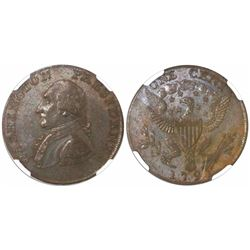 USA (struck in Birmingham, England), one cent Washington President, 1791, small eagle, encapsulated