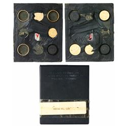 U.S. Department of Defense gold barter kit for World War II military personnel containing five gold