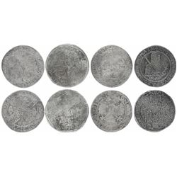 Lot of four Dutch and German large silver coins of the early to mid-1500s, unique provenance.