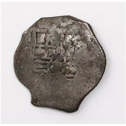 Mexico City, Mexico, cob 4 reales, Philip IV, assayer not visible.