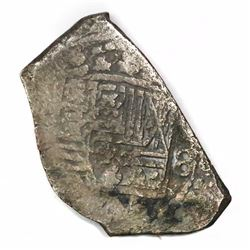 Mexico City, Mexico, cob 8 reales, Philip V, assayer not visible.
