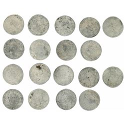 Lot of nine French ecus, Louis XV, small bust, 1728 and 1729, various mints.