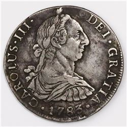 Potosi, Bolivia, bust 8 reales, Charles III, 1783PR.
