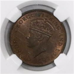 Lot of two British Honduras bronze 1c, George VI, in NGC slabs: 1939 MS 64 RB and 1944 MS 62 BN.
