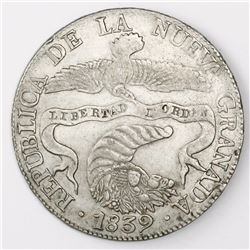 Bogota, Colombia, 8 reales, 1839RS.
