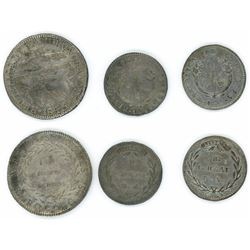 Lot of three Bogota, Colombia, minors, ex-Dana Roberts: 2R 1843RS; 1R 1833RS, 1835RS.