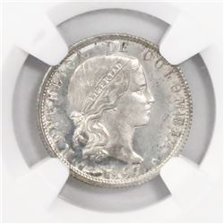 Bogota, Colombia (struck in Brussels), 10 centavos, 1897, encapsulated NGC MS 65, finest known in NG