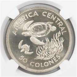Costa Rica, 50 colones, 1974, Conservation / Sea Turtle, encapsulated NGC MS 67, ex-Richard Stuart (