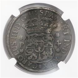 Guatemala, pillar 4 reales, Charles III, 1769P, encapsulated NGC VF details / mount removed, ex-Rich
