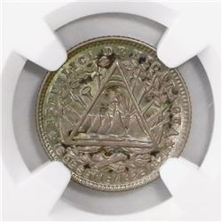 Nicaragua (Heaton mint), 10 centavos, 1887-H, encapsulated NGC MS 66, finest known in NGC census.