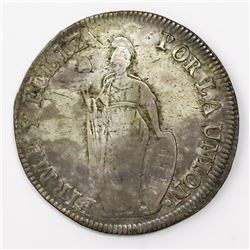 Lima, Peru (State of North Peru), 8 reales, 1837TM, ex-Almanzar.