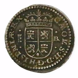 "Segovia, Spain, milled 1 real, Charles II, 1686BR, ""Maria"" type."