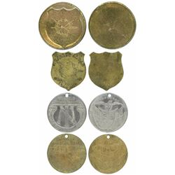 Lot of four Panama medals, 1900-1928, Carlos Alban and 25th anniversary of the Panama Republic, ex-R