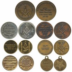 Lot of seven Panama base-metal medals, 1967-92, Masonic, ex-Richard Stuart.