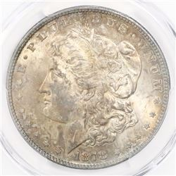 USA (Philadelphia mint), $1 Morgan, 1878, strong 7/8 tail feathers, VAM-38, encapsulated PCGS MS 62.