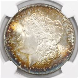 USA (San Francisco mint), $1 Morgan, 1881-S, encapsulated NGC MS 63.