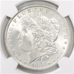 USA (New Orleans mint), $1 Morgan, 1885-O, encapsulated NGC MS 64.