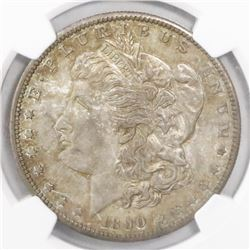 USA (San Francisco mint), $1 Morgan, 1890-S, encapsulated NGC MS 62.