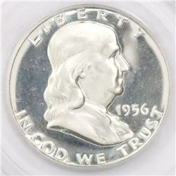 USA (Philadelphia mint), proof half dollar Franklin, 1956, type two, encapsulated PCGS PR 68 CAM.