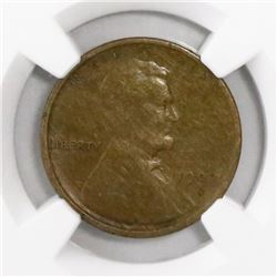 USA(San Francisco mint), copper cent Lincoln, 1909-S, encapsulated VF 25 BN.