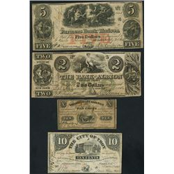 Lot of seven New York notes, 1862-64.