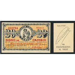 Lot of two Latin American company scrip, ca. 1910s.