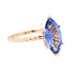 2.70 ctw Tanzanite Ring - 14KT Rose Gold
