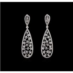 2.07 ctw Diamond Earrings - 14KT White Gold
