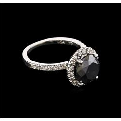4.16 ctw Black Diamond Ring - 14KT White Gold