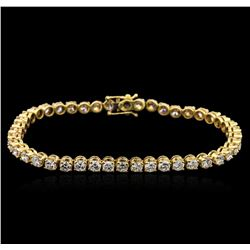 6.00 ctw Diamond Tennis Bracelet - 14KT Yellow Gold