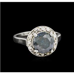 14KT White Gold 2.23 ctw Blue Diamond Ring