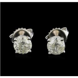 14KT White Gold 1.33 ctw Diamond Stud Earrings