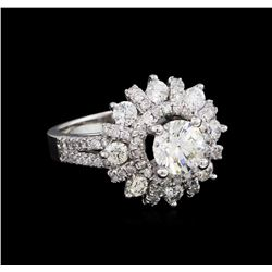 2.40 ctw Diamond Ring - 14KT White Gold