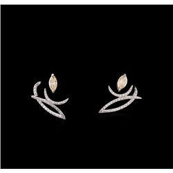 1.53 ctw Diamond Earrings - 14KT White Gold