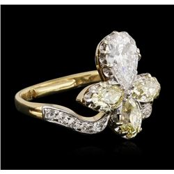 14KT Yellow Gold 1.99 ctw Diamond Ring