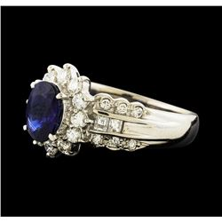 1.25 ctw Sapphire and Diamond Ring - Platinum