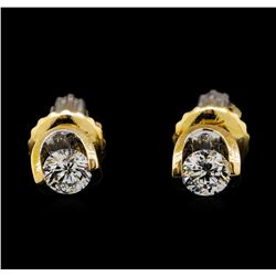 0.30 ctw Diamond Earrings - 14KT Yellow Gold