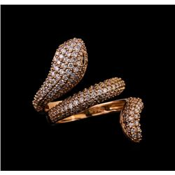 14KT Rose Gold 1.23 ctw Diamond Ring
