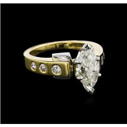 EGL INT Cert 2.26 ctw Diamond Ring - 18KT Two-Tone Gold