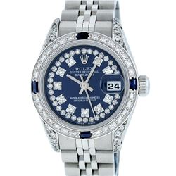 Rolex Stainless Steel Blue String Diamond VS Datejust Ladies Watch