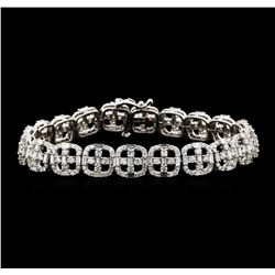 7.33 ctw Diamond Bracelet - 14KT White Gold