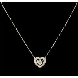 0.72 ctw Diamond Heart Necklace - 14KT Yellow Gold