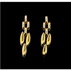 18KT Yellow Gold Dangle Earrings