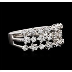 18KT White Gold 0.51 ctw Diamond Ring