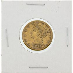 1885-S $5 VF Liberty Head Half Eagle Gold Coin