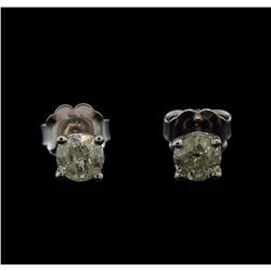 14KT White Gold 0.55 ctw Diamond Stud Earrings