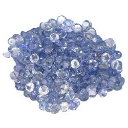 13.94 ctw Round Mixed Tanzanite Parcel