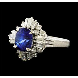 2.00 ctw Sapphire and Diamond Ring - Platinum