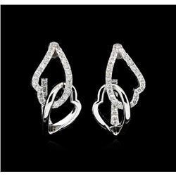 0.73 ctw Diamond Earrings - 14KT White Gold