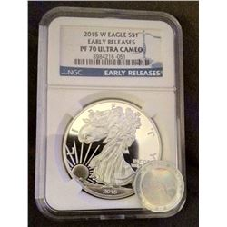 2015 US $1 PF 70 Silver Eagle Early Release